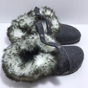 Birkenstock Womens Kaprun Faux Fur Clog size 36